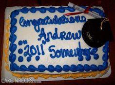 """and write ""2011"" somewhere on the cake, too""..."