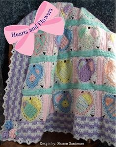 Hearts and Flowers Baby Afghan Crochet Pattern by Sharon Santorum, http://www.amazon.com/gp/product/B0032FO4ZC/ref=cm_sw_r_pi_alp_eVg3pb0QBC7RX
