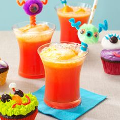 Orange Sherbet Party Punch Recipe  -- Use SugarTwin® as a substitute for regular sugar for the same sweet taste without the calories - www.sugartwin.com #sugartwin #punch #orangesherbet