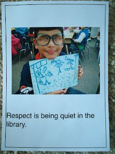 A classroom book about respect (kids wear respectacles).