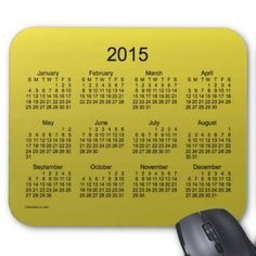 Yellow Mustard 2015 Calendar by Janz Mousepad