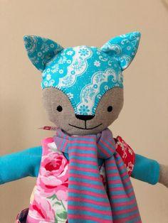 Sugar Flower Cat Doll in Aqua