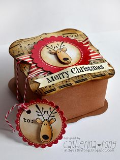 Merry Christmas gift box and mini tag 01 | Flickr - Photo Sharing!