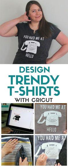 Design Trendy T-shirts   Cricut Explore   Heat Transfer Vinyl   DIY Fashion and Style   Handmade