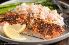 20 Minute Simple Salmon & Asparagus - Garnish & Glaze