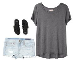 """""""Casual"""" by chloebellia on Polyvore featuring Organic by John Patrick, American Eagle Outfitters and Abercrombie & Fitch"""