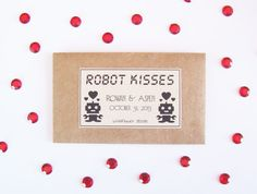 robot kisses wedding favors on etsy