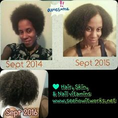 Wow!! 😯 Glad I save pics for moments like this!! It Works HSN vitamins weren't the first hair growth vitamin I used but they are definitely the best!! 💚 My favorite and top seller!! Who's ready to start their journey with me?? #tbt #afro #hair #bighair #hairgrowth #hairskinnailvitamins  #allnatural #naturalhairdaily #rockyourfro #loveyournaturalhair