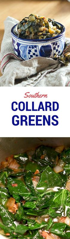 True southern collard greens recipe: earthy collards, pungent garlic and bacon goodness. Easy recipe too! Veggie Recipes, Paleo Recipes, Cooking Recipes, Vegetable Dishes, Delicious Recipes, Southern Collard Greens, Easy Collard Greens Recipe, Recipe Filing, Southern Comfort