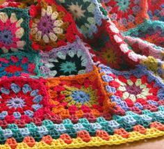 Crochet Afghan Blanket Gorgeous Sublime Flower by Thesunroomuk