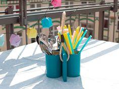 Besteckaufbewahrung für den Gartentisch basteln