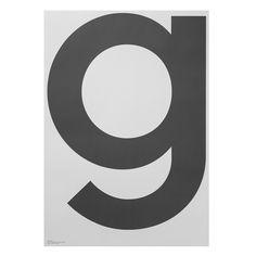"GREY Poster ""G"" Poster ""G"" aus der Posterkollektion ""GREY"", 70x100"