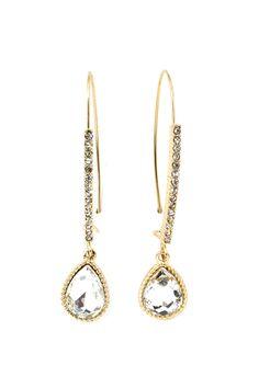 crystal teardrop earrings <3