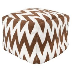 Threshold™ Kilim Square Pouf two square poufs under your snakeskin console could be cool!
