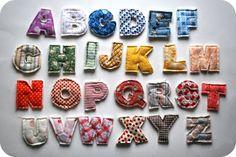 Como fazer letras de tecido | Como fazer em casa Artesanato