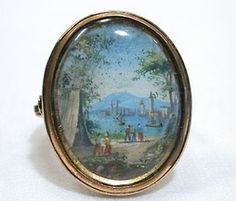 Georgian portrait landscape ring.