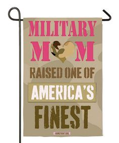 US Flag Store Patriotic Garden Flag, Military Mom