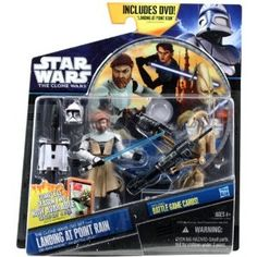 Amazon.com: Star Wars 2011 Clone Wars Animated Exclusive DVD Action Figure 2Pack ObiWan Kenobi Battle Droid: Toys & Games
