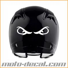 Reflective Evil Eyes Motorcycle Helmet Decals, Bicycle Helmet, Evil Eye, Eyes, Cycling Helmet