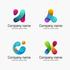 Collection of abstract modern logo template for your company - Asia poultry feeds - Education Icon Design, Logo Design Inspiration, Data Collection Sheets, Data Logo, Mouse Crafts, Logos, Education Logo, Modern Logo, Visual Identity