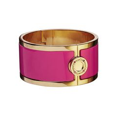 Mimco hot pink wide hinged cuff