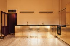 all brass kitchen