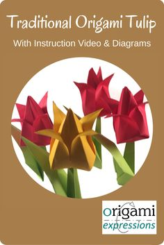 How to make origami tulip flowers video instructions origami how to make origami tulip flowers video instructions origami pinterest origami easy origami flower and easy origami mightylinksfo