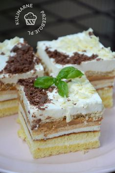 Sweet Recipes, Cake Recipes, Dessert Recipes, Polish Desserts, Dessert Drinks, Cake Ingredients, Sweet Cakes, Homemade Cakes, Fudge