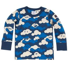 Curious Cloud Baby Top - PO.P some fun into your child's wardrobe with our curious cloud print top. Crafted from easy to wear and care for cotton that can take a stain busting 60C wash.