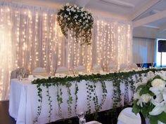 Fairy light curtain for wedding