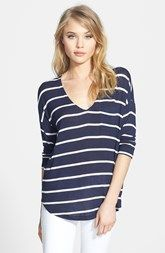 Splendid Stripe Jersey Pocket Tee