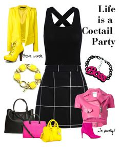 """""""Life is a Party"""" by chanlee-luv ❤ liked on Polyvore featuring Alexandre Vauthier, Moschino, Qupid, Sam Edelman, Prada, MICHAEL Michael Kors and Alexander McQueen"""