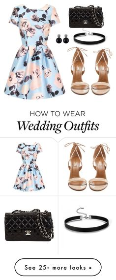 """""""Summer Wedding Guest Dress"""" by deloom on Polyvore featuring Chi Chi and Aquazzura"""