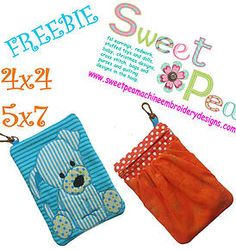 sweetpeamachineembroiderydesigns machine embroidery in the hoop ith | Freebies