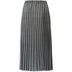 Gig midi knitted skirt (£615) ❤ liked on Polyvore featuring skirts, grey, metallic skirt, gray skirt, mid calf skirts, calf length skirts and pleated midi skirt