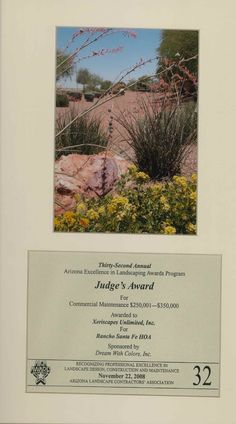 Judge's Award for Commercial Maintenance, 2008