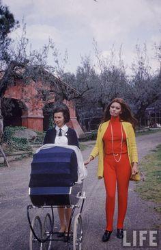 Sophia Loren and Baby, 1969 ~ vintage everyday