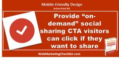 """Create a """"share"""" call to action that opens a social sharing menu for #mobile. This allows mobile users to share when they want but keeps options out of the way. #BestDamnBook"""