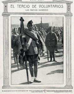 MARRUECOS 1922 TERCIO DE VOLUNTARIOS EN MELILLA HOJA REVISTA