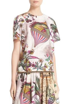 Etro Animal Postcard Print Cotton Top available at #Nordstrom
