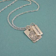 Buddha Jewelry Namaste Necklace Lotus Necklace by TheZenMuse, $39.00