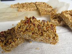 shared via nutiva.com - Maple Pecan Bars, with oats, almonds, #coconut #oil, maple syrup, and pecans for a rich breakfast.