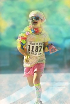 Happy little Color Runner! #TheColorRun