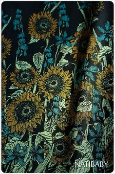 Natibaby Sunflowers Woven Wrap is part of Natibaby's Van Gogh series. These are on the way and are available as a pre-order! They will ship as soon as they a Baby Wearing Wrap, Baby Wrap Carrier, Ring Sling, Woven Wrap, Baby Wraps, Natural Baby, Cloth Diapers, Van Gogh, Baby Love