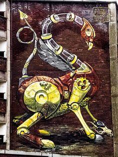 Pixel Pancho in Bristol, UK    #streetart #PixelPancho - Click for more streetart
