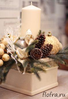 украшение стола банкета витрина зала новый год кемерово флористика