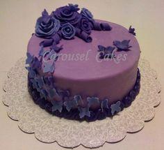 Single Tier Cascading Butterfly Cake
