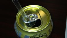 Great idea to stop your straw from rising out of the can.  Healthier to drink from the straw too.