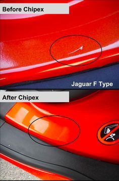 Peter's Jaguar F Type pictures before and after using Chipex. Touch up your Jaguar here with Chipex - http://www.chipex.co.uk/
