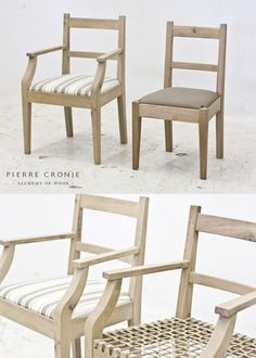 Pierre Cronje's 'Simply Pierre' Karoo Carver & Chair - riempie seat and drop-in seat. French Oak with a light blackwash finish Exterior Design, Interior And Exterior, Cape Dutch, French Oak, Wishbone Chair, Wooden Furniture, Furnitures, Color Inspiration, Neutral